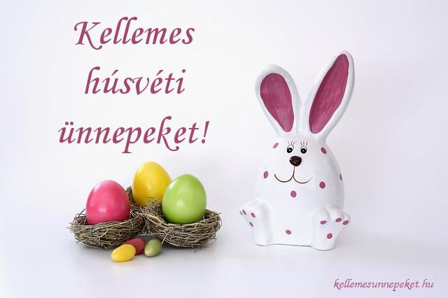 kellemes húsvéti ünnepeket nyuszi, tojások