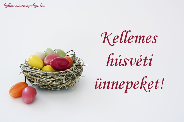 kellemes húsvéti ünnepeket tojás, fészek