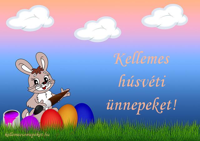kellemes húsvéti ünnepeket tojások, nyuszi