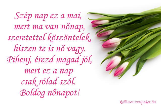 nőnapi köszöntő tulipán