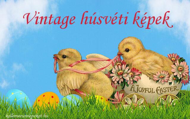 vintage húsvéti képek