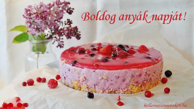 boldog anyák napját torta