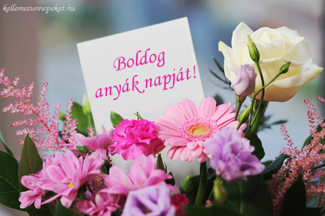 boldog anyák napját virágcsokor
