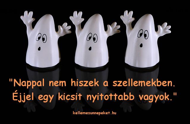 halloween idézet, szellemek