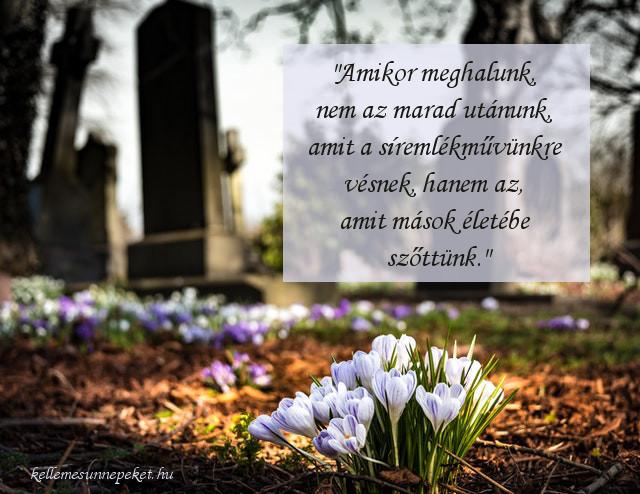 halottak napi idézet, emlék