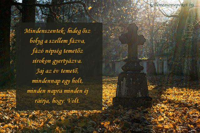 halottak napi vers, temető