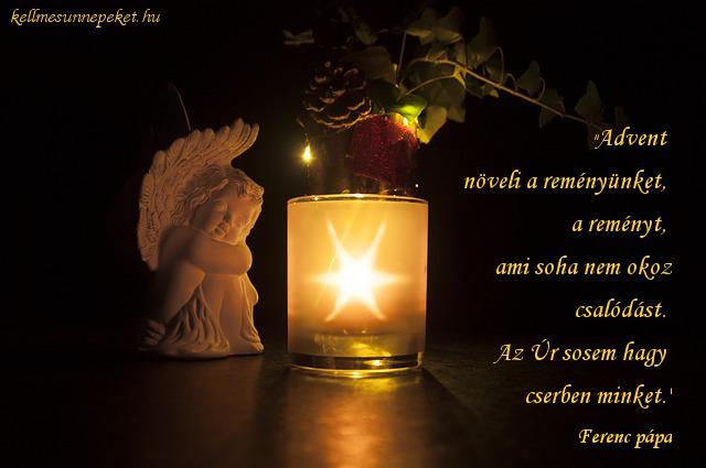 advent idézet, Ferenc pápa