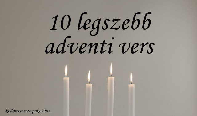 10 legszebb adventi versek