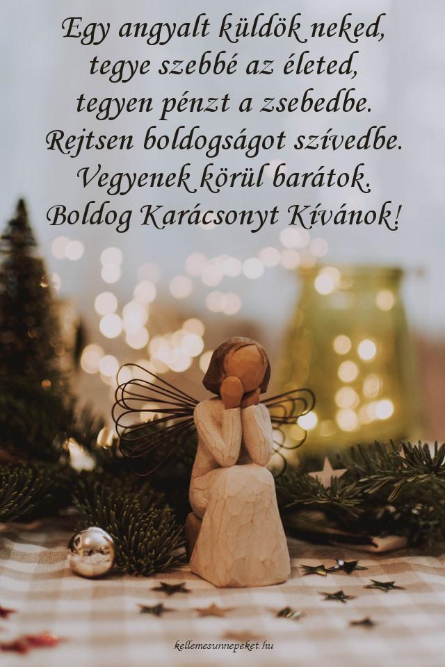 angyalos karácsonyi köszöntő