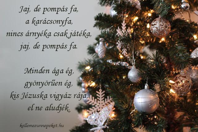 karácsonyi rövid vers, pompás karácsonyfa