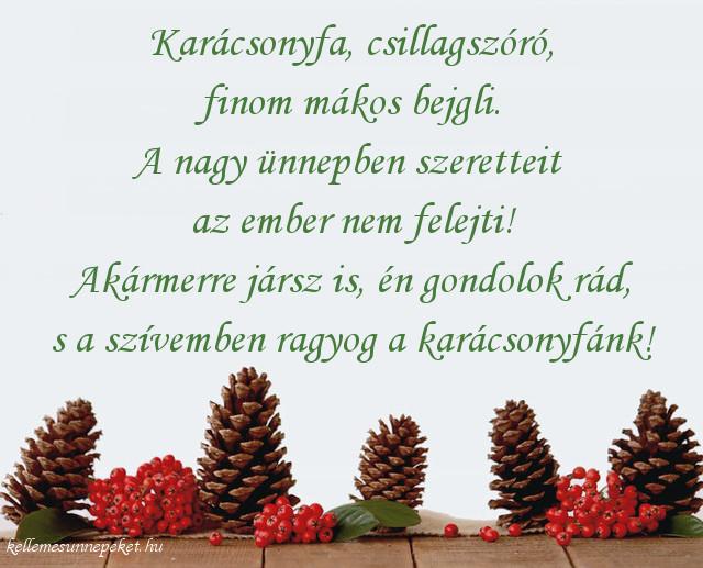 karácsonyi üdvözlet testvérnek