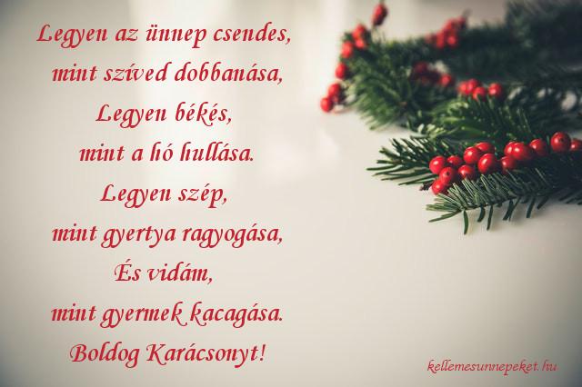 karácsonyi üdvözlet családnak