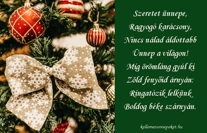 karácsonyi vers a szeretetről, szeretet ünnepén