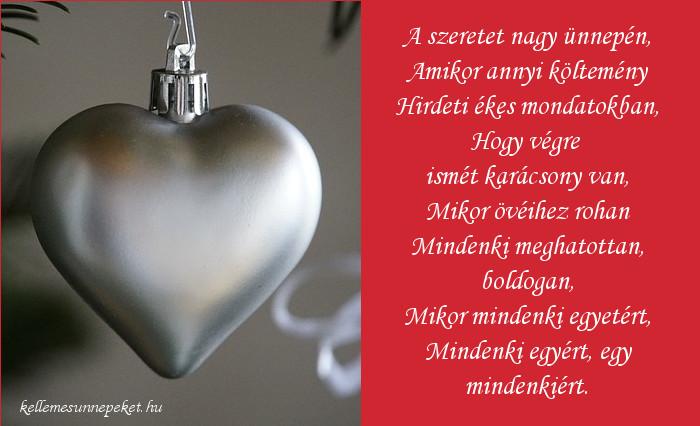 karácsonyi vers szeretetről, Heltai Jenő
