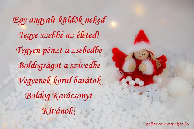 karácsonyi jókívánság angyal