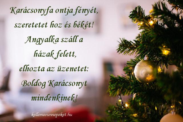 karácsonyi jókívánságok karácsonyfa