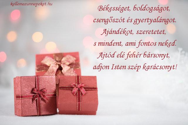 karácsonyi köszöntő ajándék