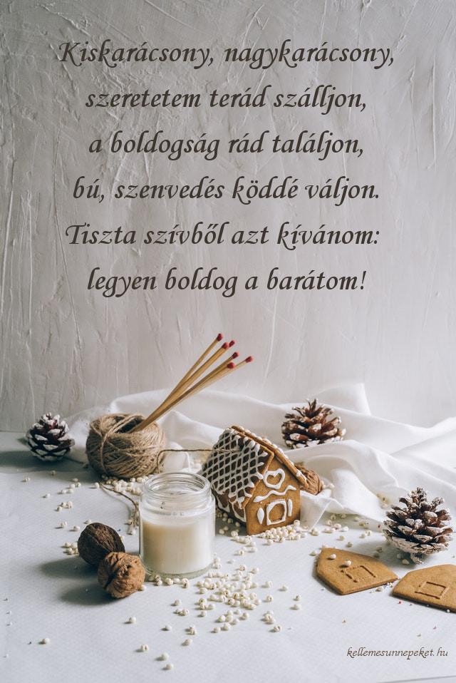 karácsonyi köszöntő barátoknak, kiskarácsony