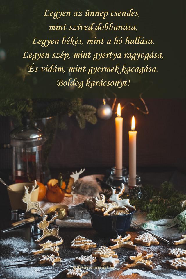 karácsonyi köszöntő gyertya