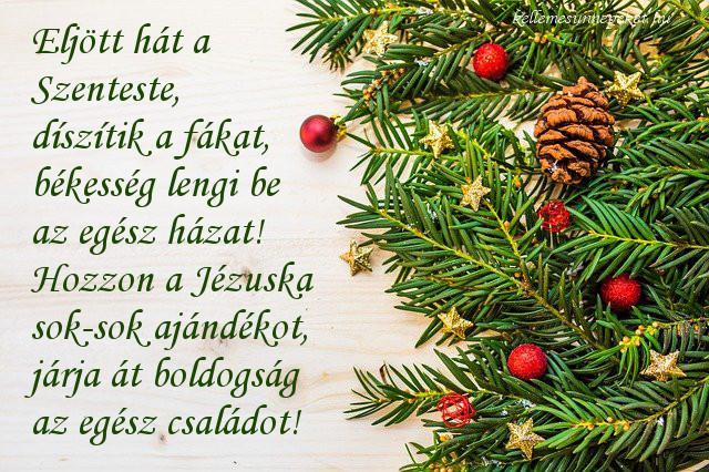 karácsonyi köszöntő szenteste