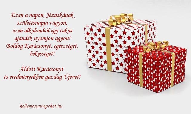 karácsonyi üdvözlet ajándék