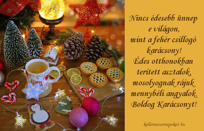 karácsonyi üdvözlet, édes ételek