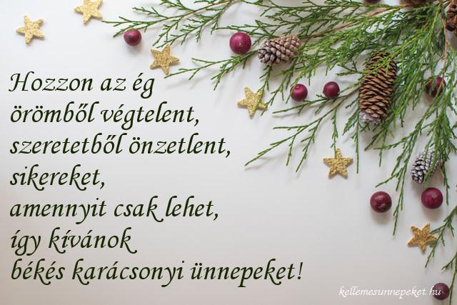 karácsonyi üdvözlet fenyő