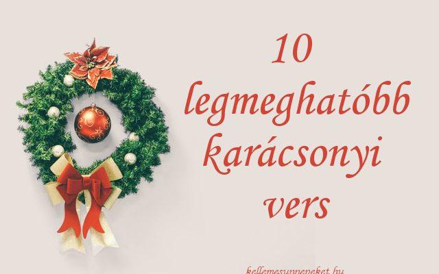 legmeghatóbb karácsonyi versek
