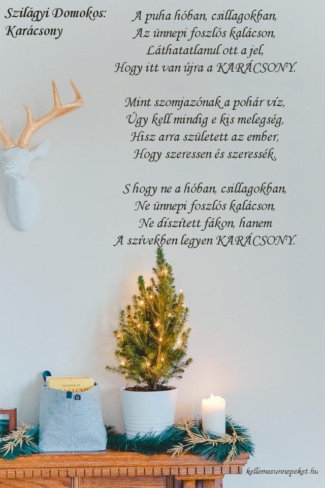 megható karácsonyi vers, Szilágyi Domokos Karácsony