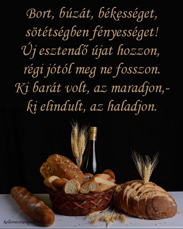 újévi népi köszöntő, bort, búzát, békességet