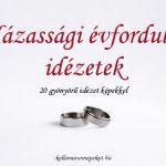 Házassági évforduló idézetek