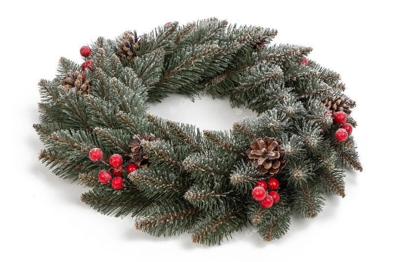 lucfenyő karácsonyi koszor
