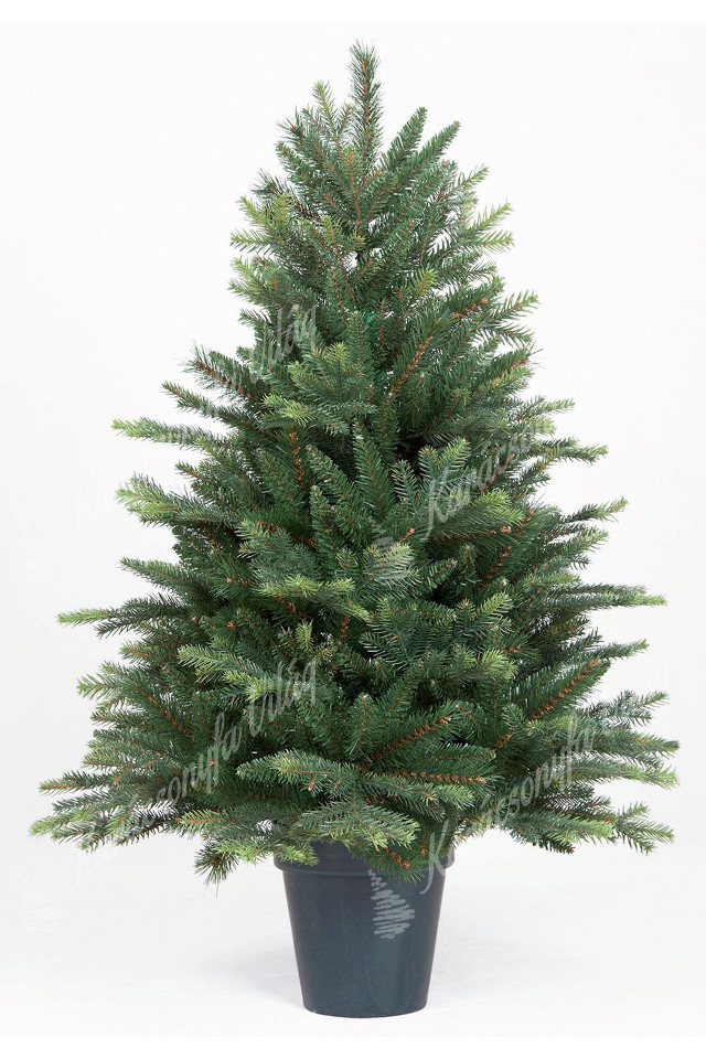 műkarácsonyfa 3d normand jegenyefenyő cserpében