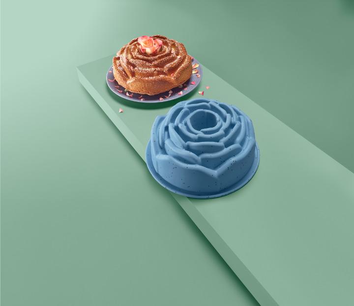 rózsa alakú sütőforma