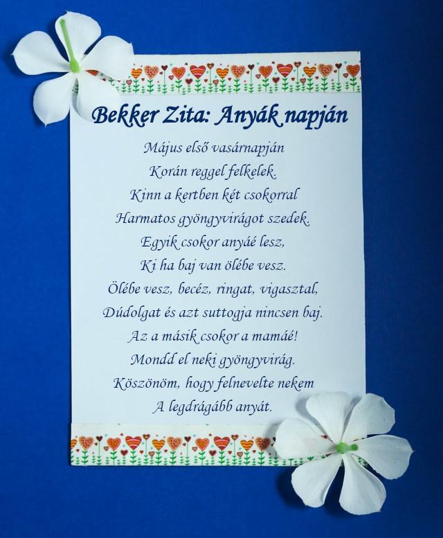 rövid nagymama vers anyák napjára