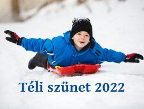 téli szünet 2022