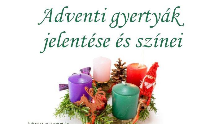 Adventi gyertyák jelentése és színei