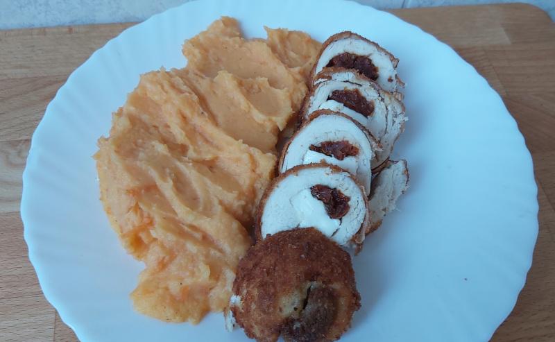 sütőtökös krumplipüré köret